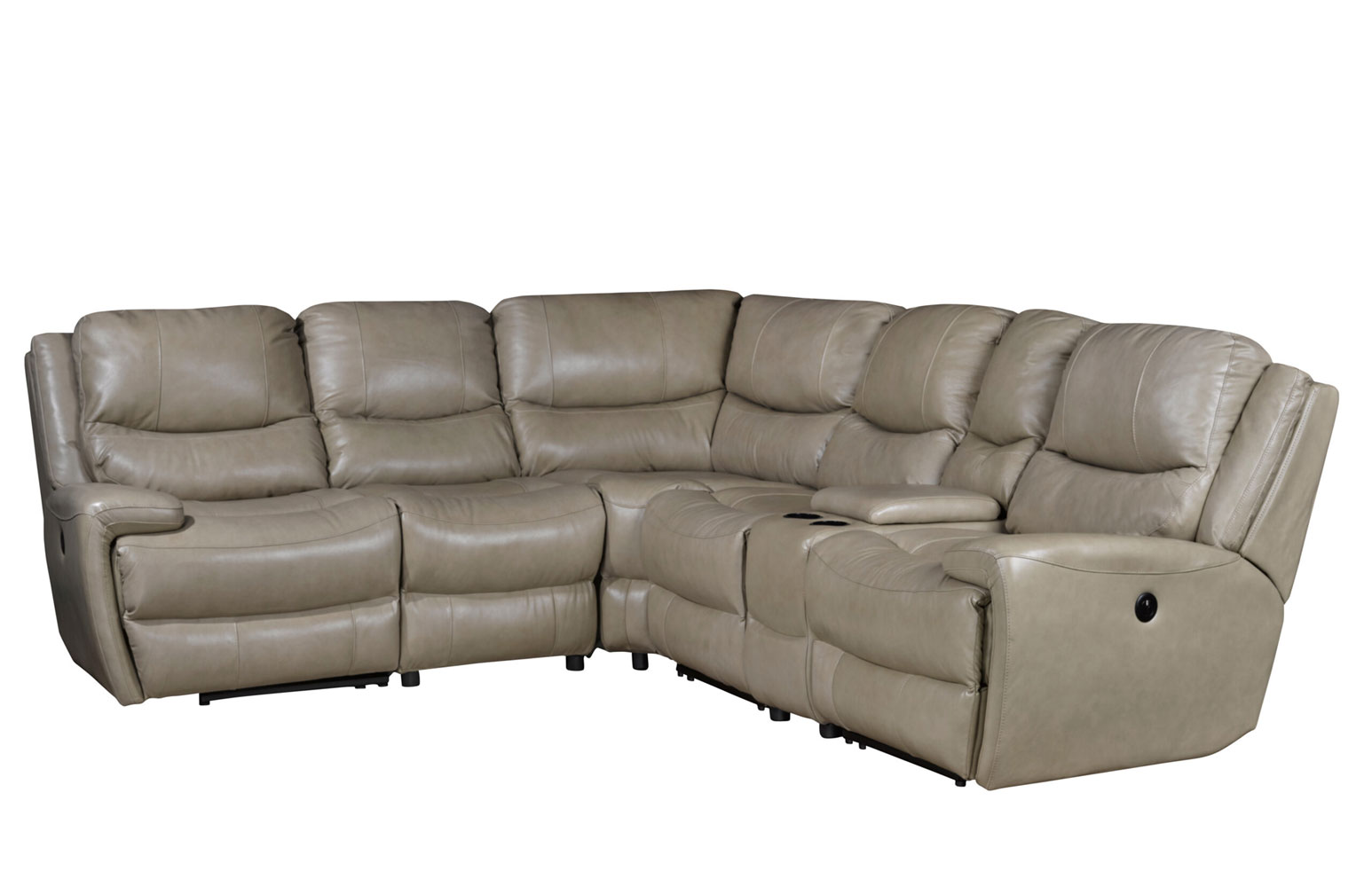 Sydney High Grade Leather Sectional with USB